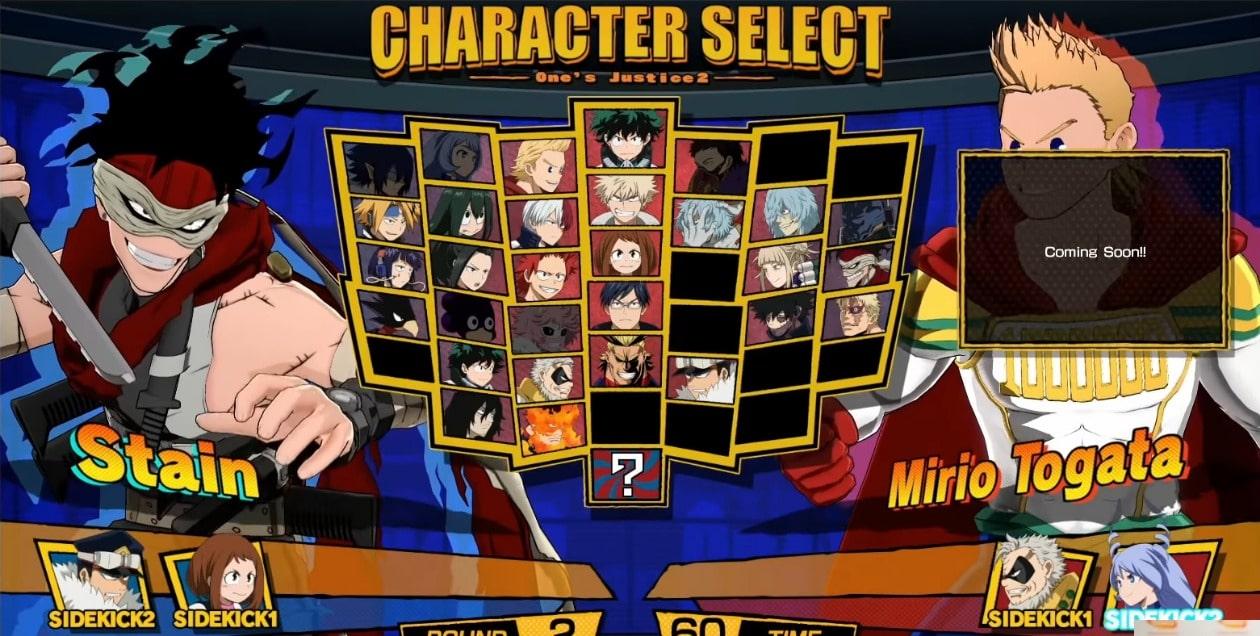One's-Justice2-プレイアブルキャラクター
