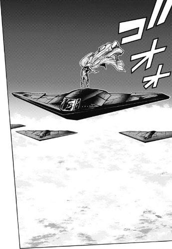 戦闘機の屋根に立つスターアンドストライプス